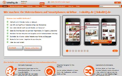 lokality - regionale Branchenbuch und smartphone optimierte Unternehmens-Darstellung